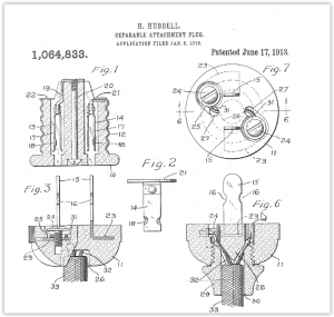 H. HUBBELL. SEPARABLE ATTACHMENT PLUG. APPLIGATION FILED JAN. 2, 1912