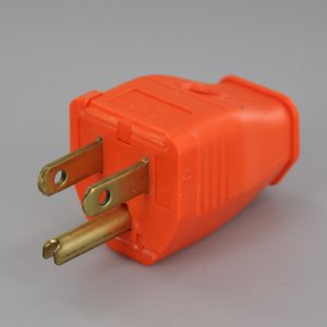 ORANGE GROUNDED LEVITON SCREW TERMINAL CONNECTION PLUG